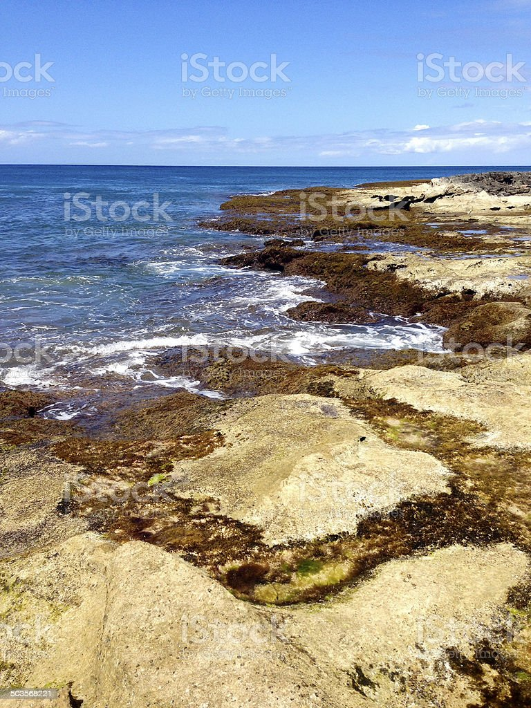 Lava Rocks at the Ocean royalty-free stock photo