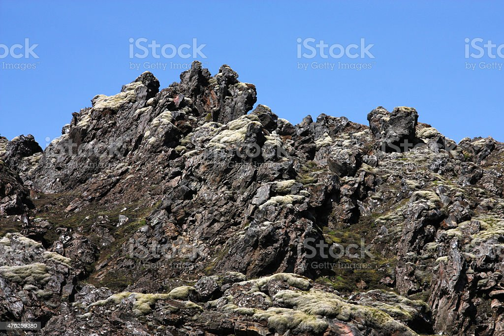 Lava rocks stock photo