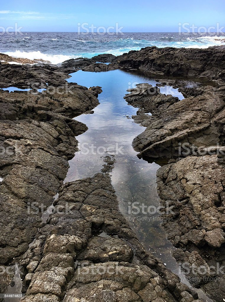 Lava tide pool stock photo