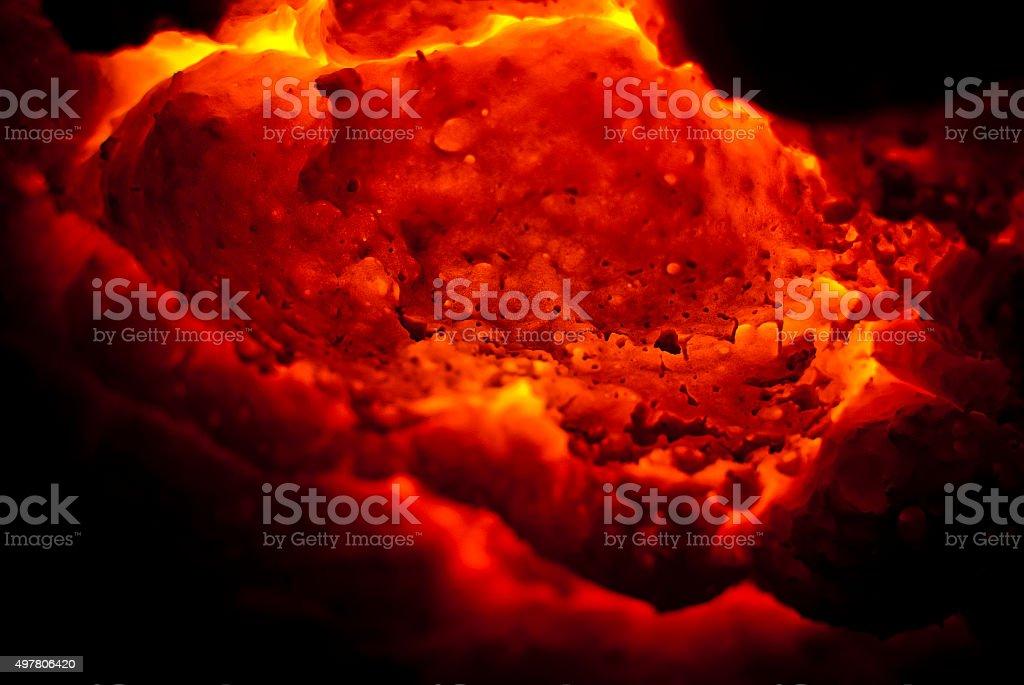 lava volcano fire stock photo