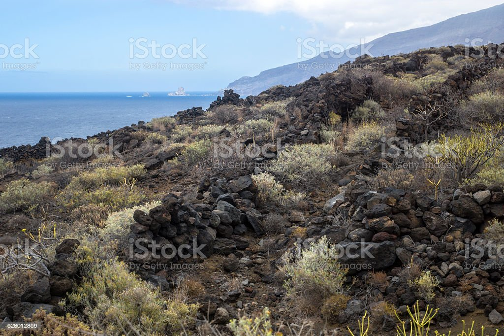 Lava walls with a view stock photo