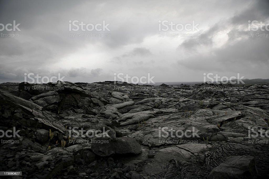 Lavafield stock photo