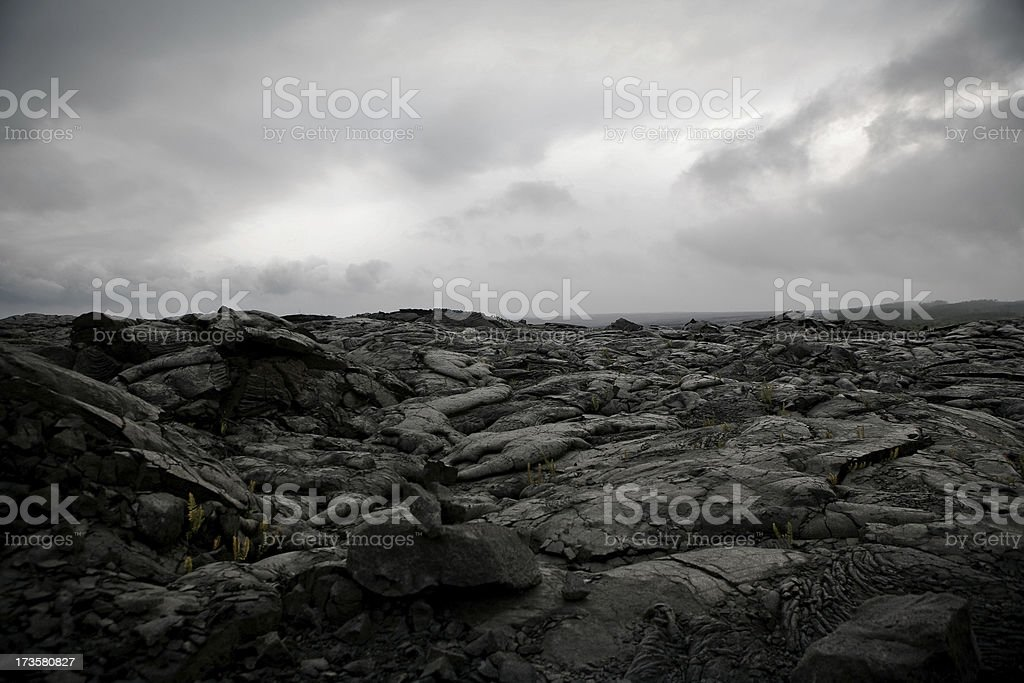 Lavafield stock photo