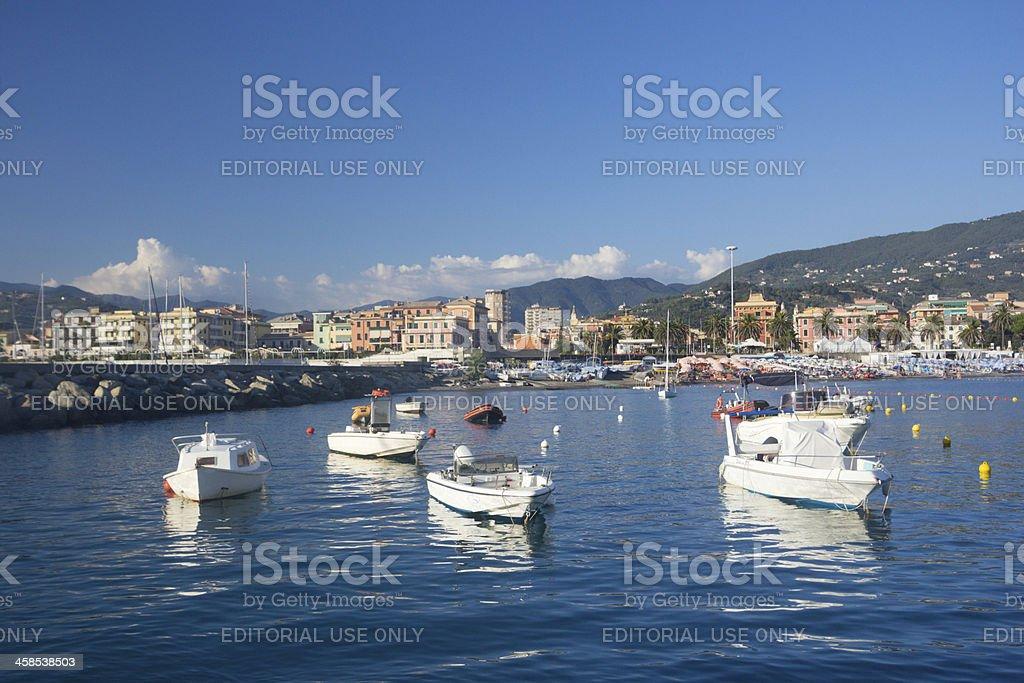 Lavagna on the Riviera di Levante, Italy royalty-free stock photo