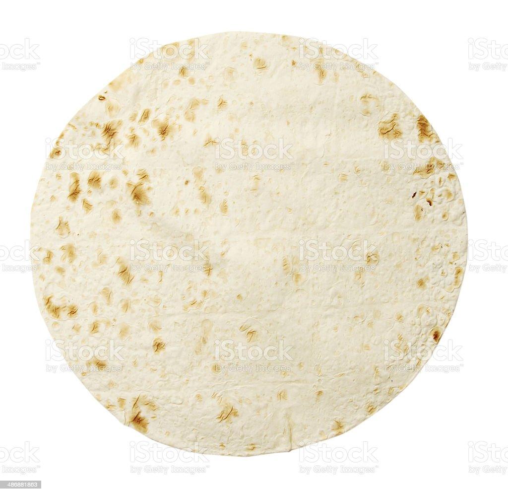 lavash isolated on white stock photo