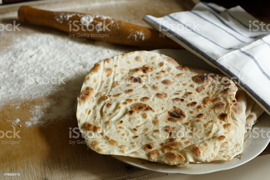 Lavash (traditional armenian bread) stock photo