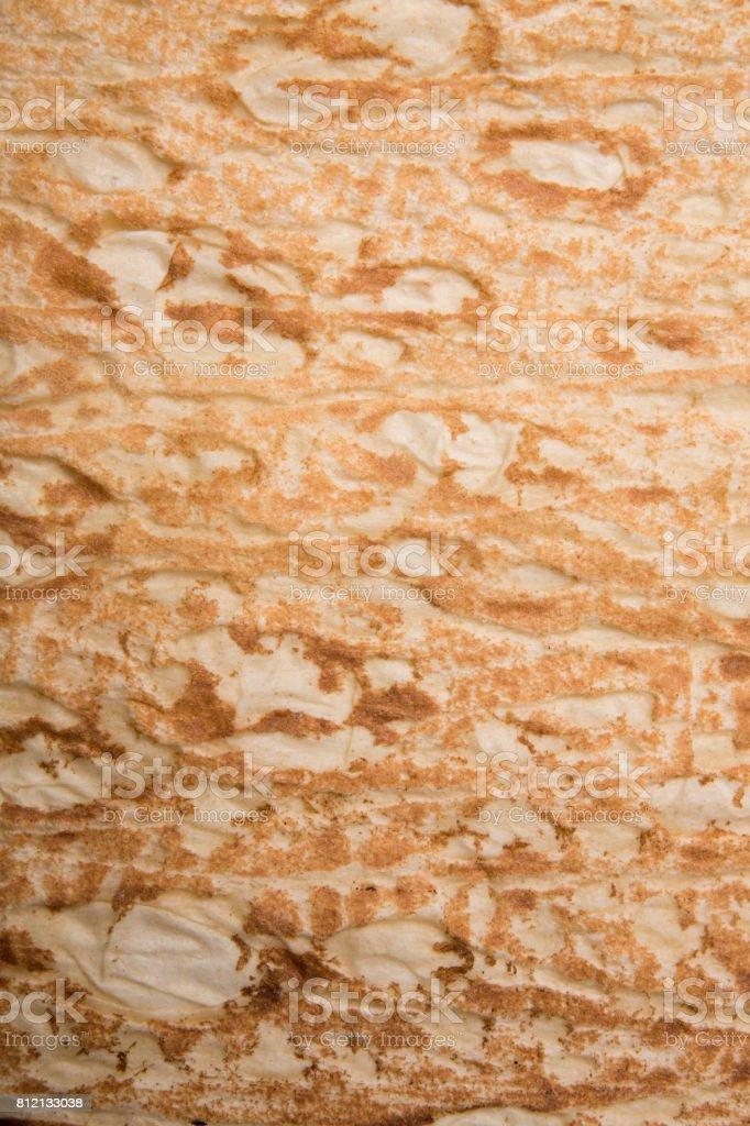 Lavash, thin bread texture close-up stock photo