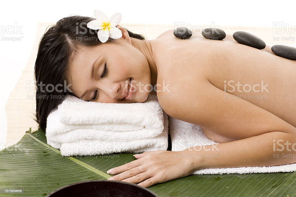 Lavastone therapy royalty-free stock photo
