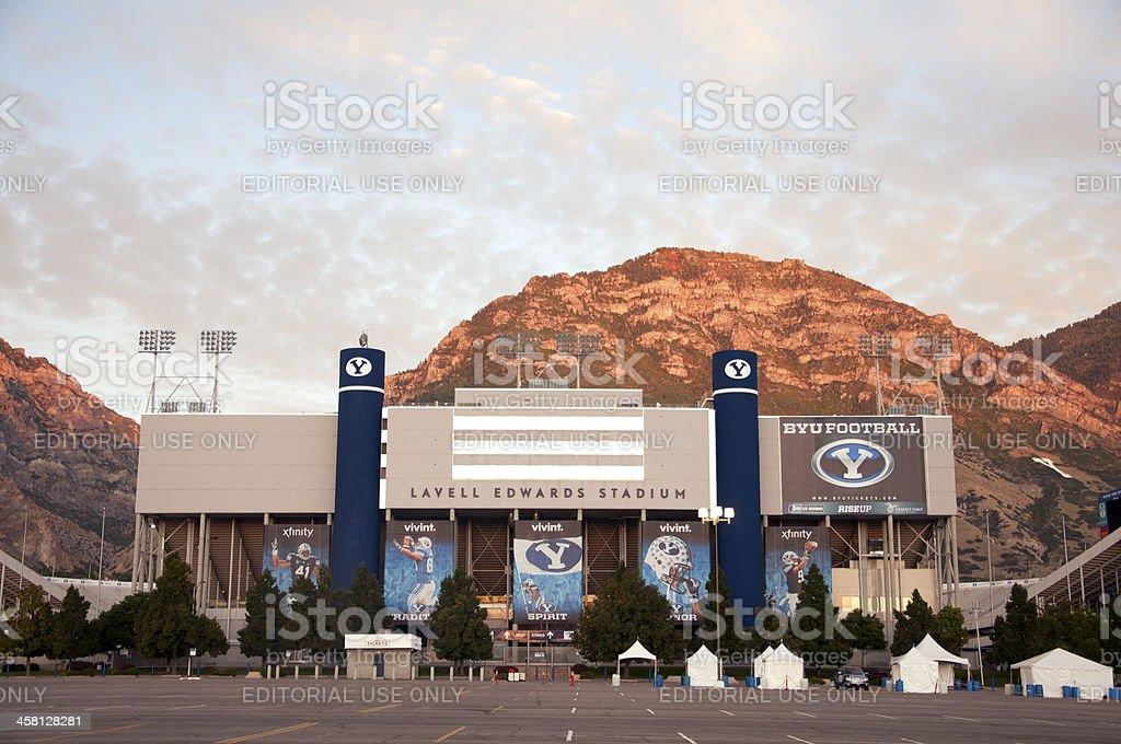 Lavell Edwards Stadium at Brigham Young University (BYU) stock photo