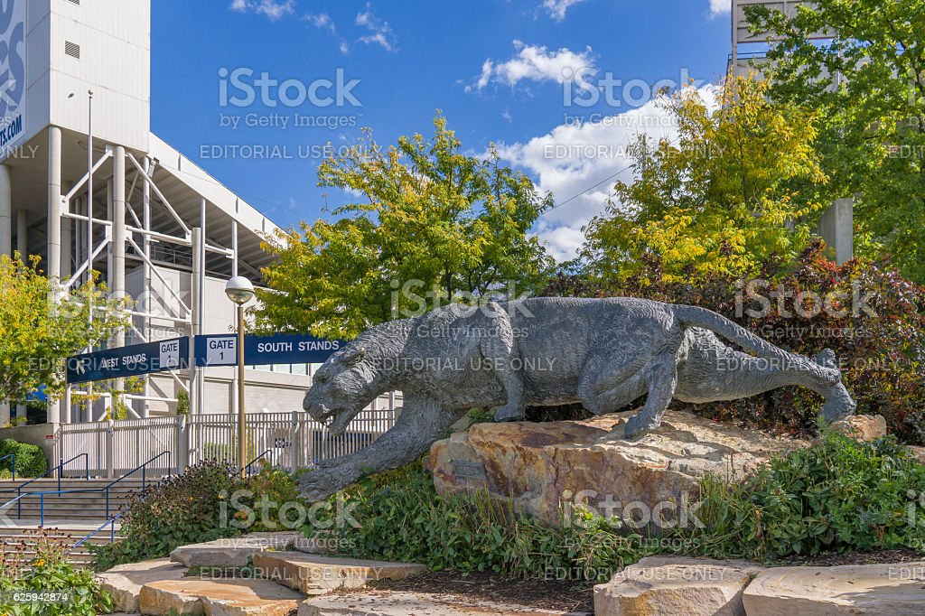 LaVell Edwards Stadium on Campus of Brigham Young University stock photo