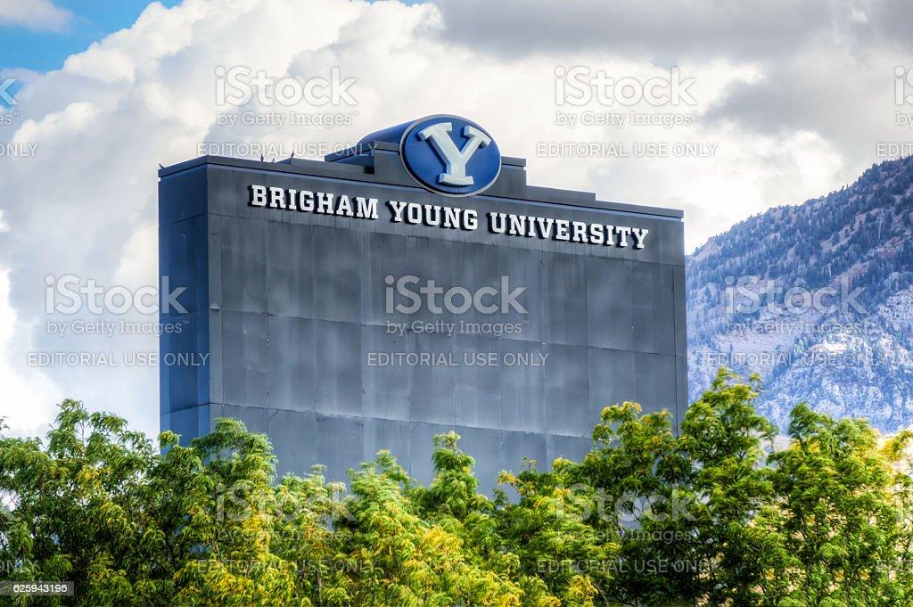 LaVell Edwards Stadium on Campus of Brigham Young University. stock photo