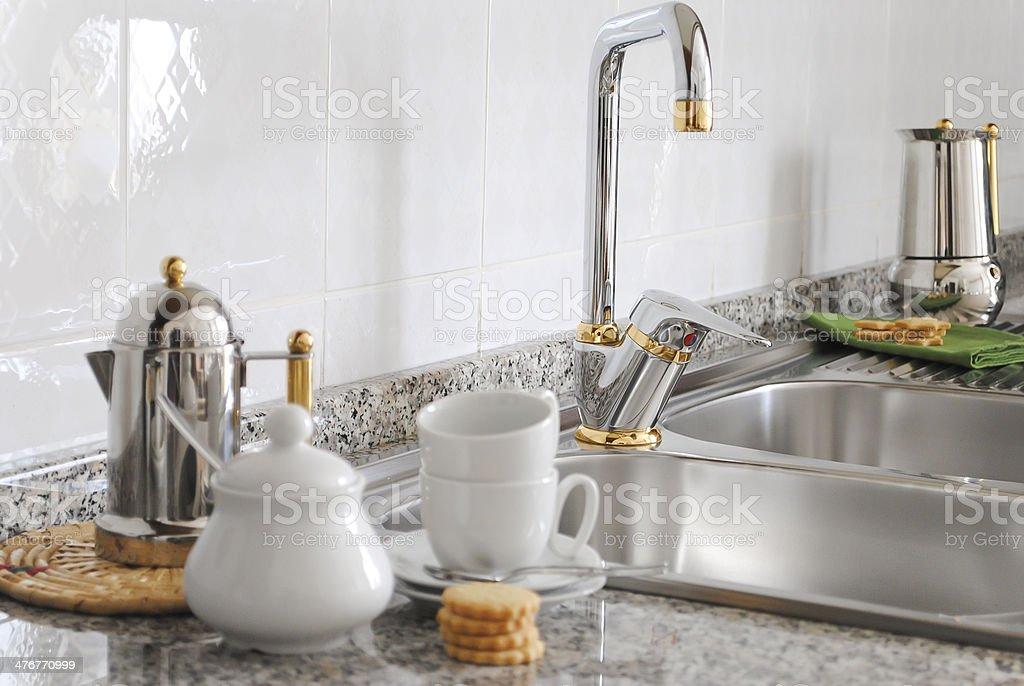 Lavello da cucina stock photo