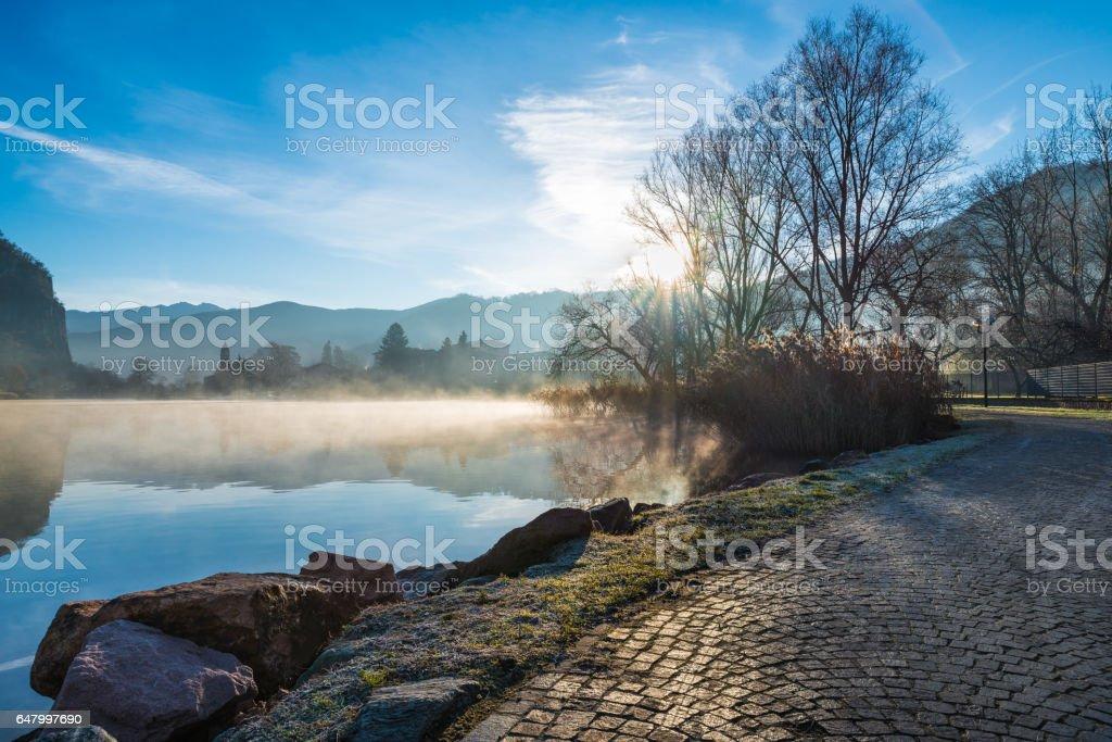 Lavena Ponte Tresa on Lake Lugano also called Ceresio, Italy stock photo