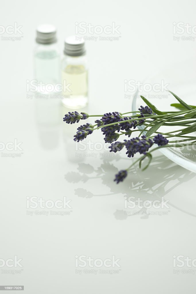 Lavender and aroma oil royalty-free stock photo