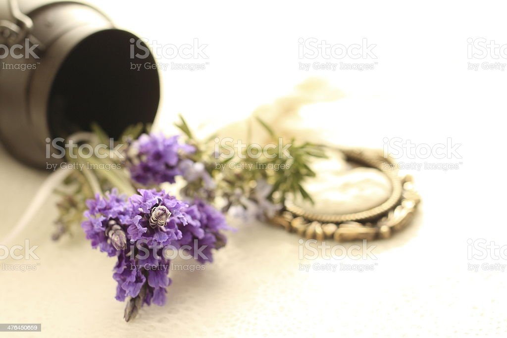 lavender and rosemary for background royalty-free stock photo