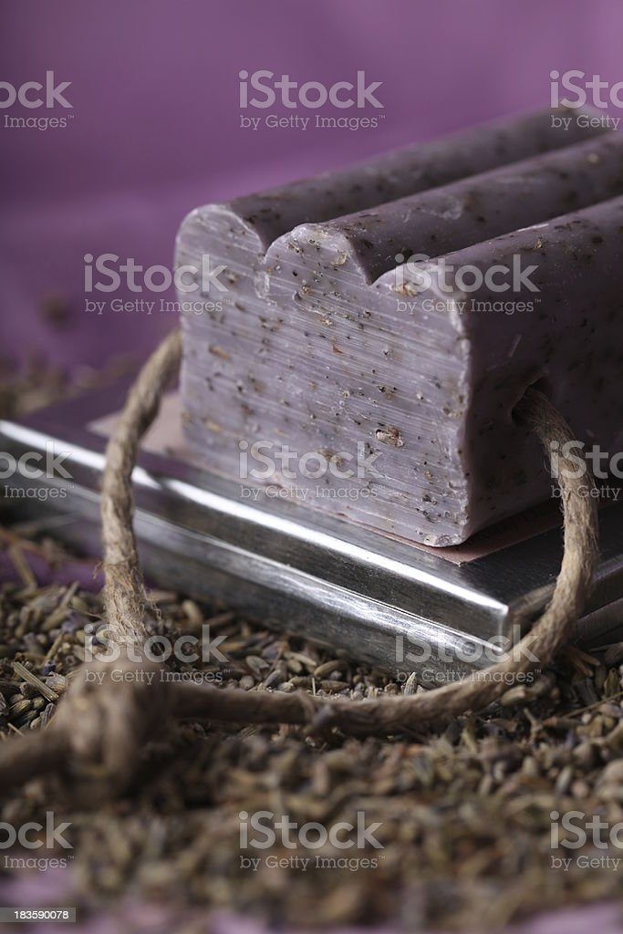 Lavender and soap. stock photo