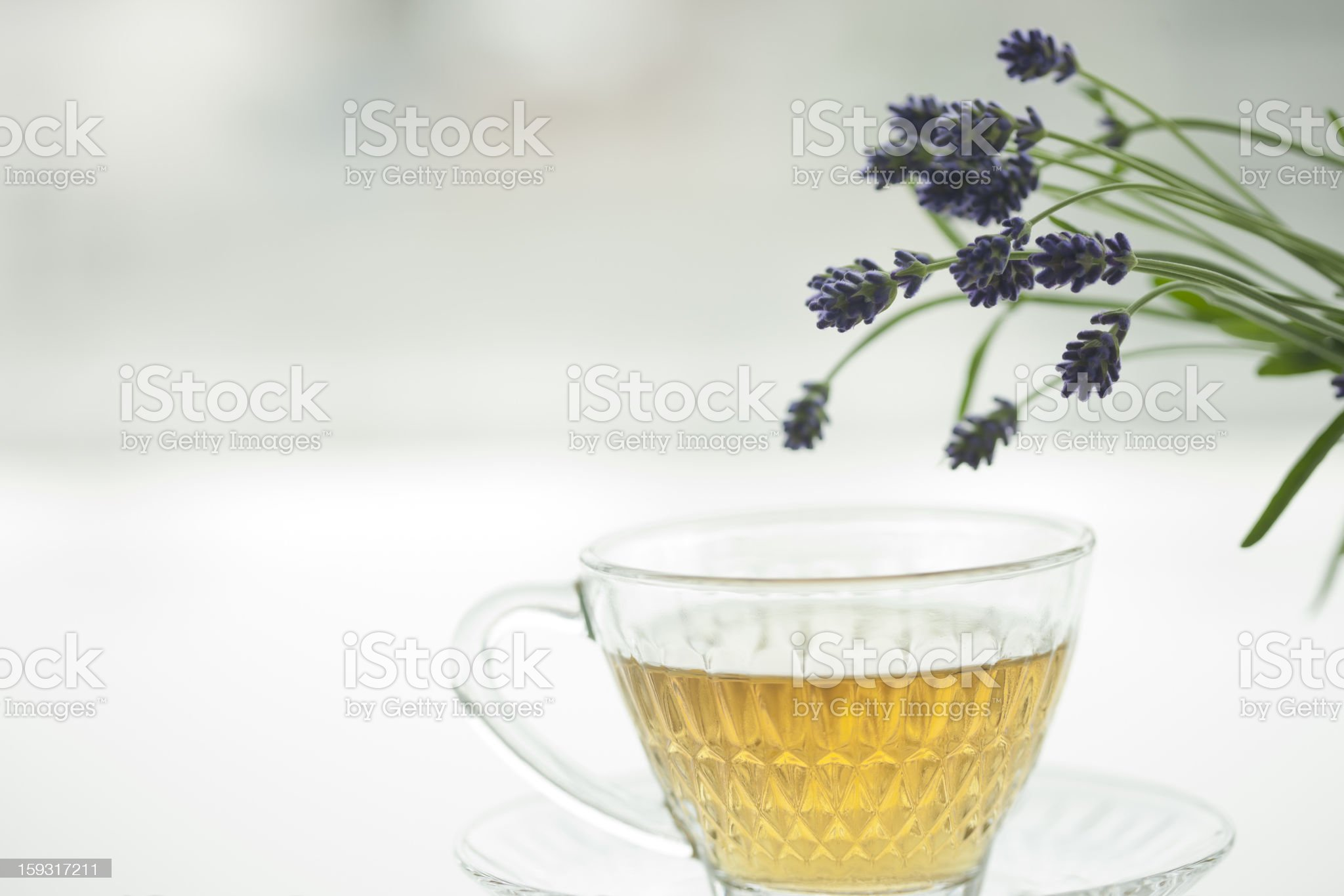 Lavender and tea royalty-free stock photo