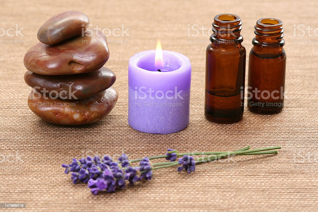 lavender aromatherapy royalty-free stock photo