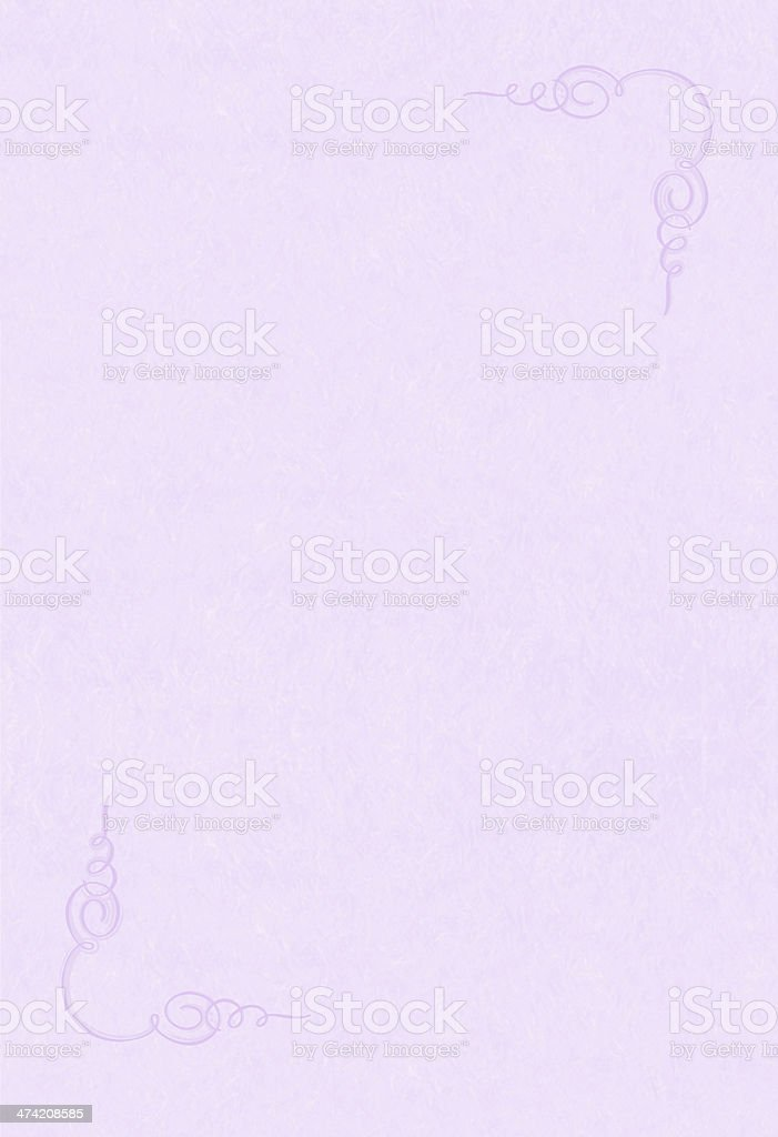 Lavender Background Paper with corner swirls XXXL royalty-free stock photo