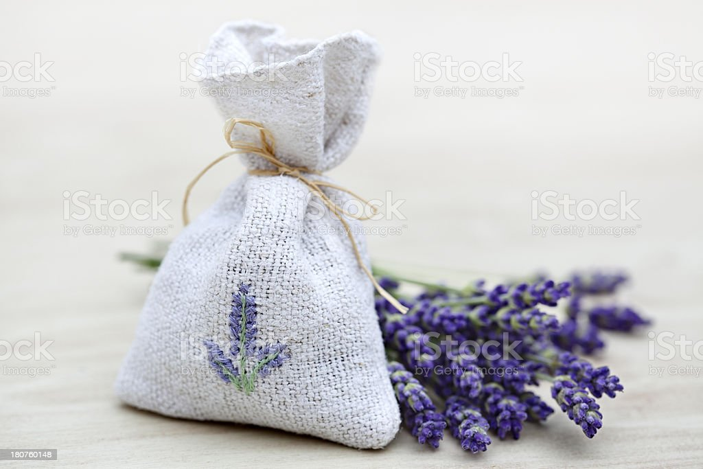 Lavender Bag stock photo