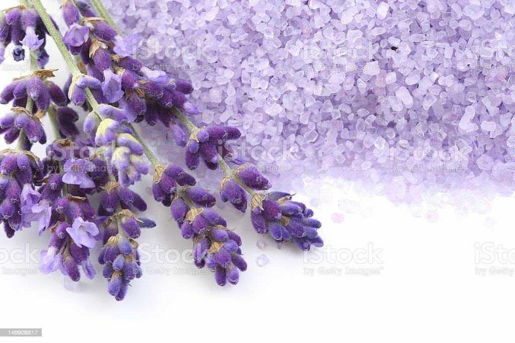 lavender bath salt royalty-free stock photo