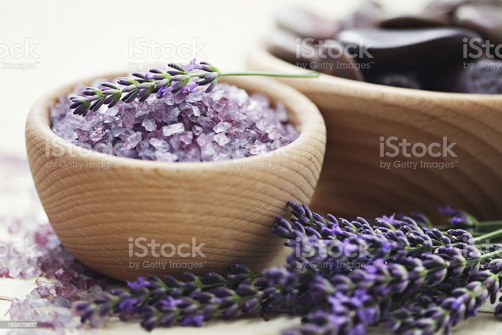 lavender bath salt royalty-free stock photo