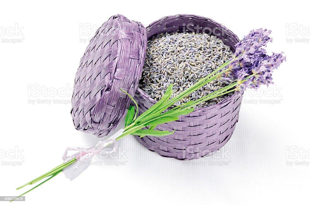 Lavender Box stock photo