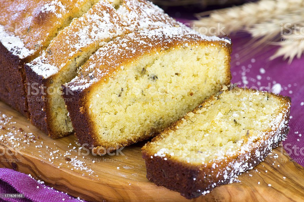 Lavender cake royalty-free stock photo