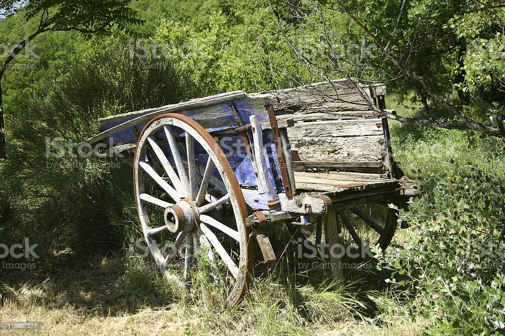 Lavender cart royalty-free stock photo
