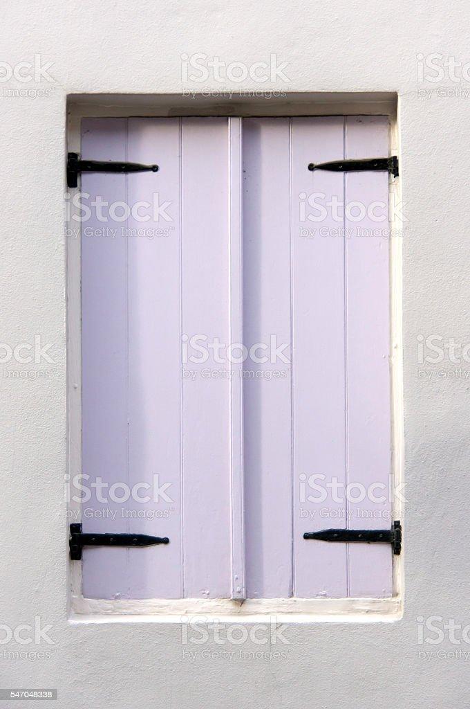 Lavender Colored Shutters stock photo
