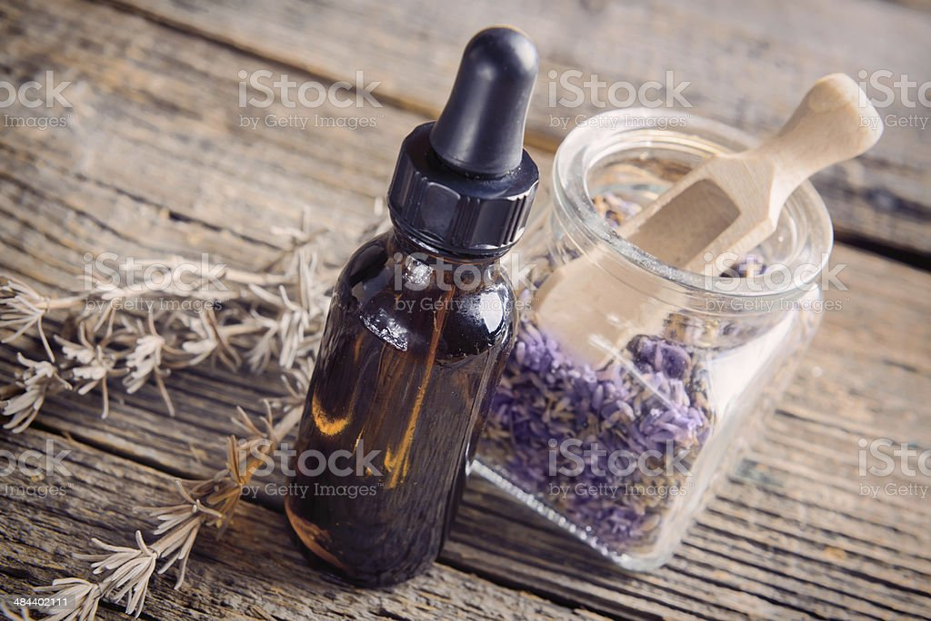Lavender essential oil royalty-free stock photo