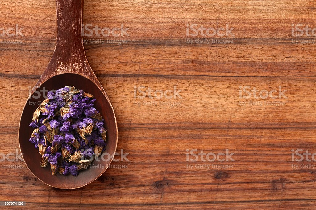 Lavender flowers for tea stock photo