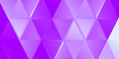 Lavender indented triangles