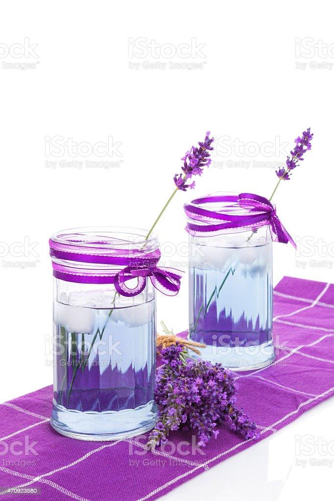 Lavender lemonade. stock photo