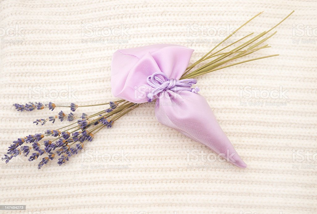 Lavender sachet stock photo