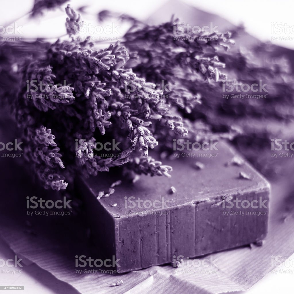 Lavender Soap royalty-free stock photo