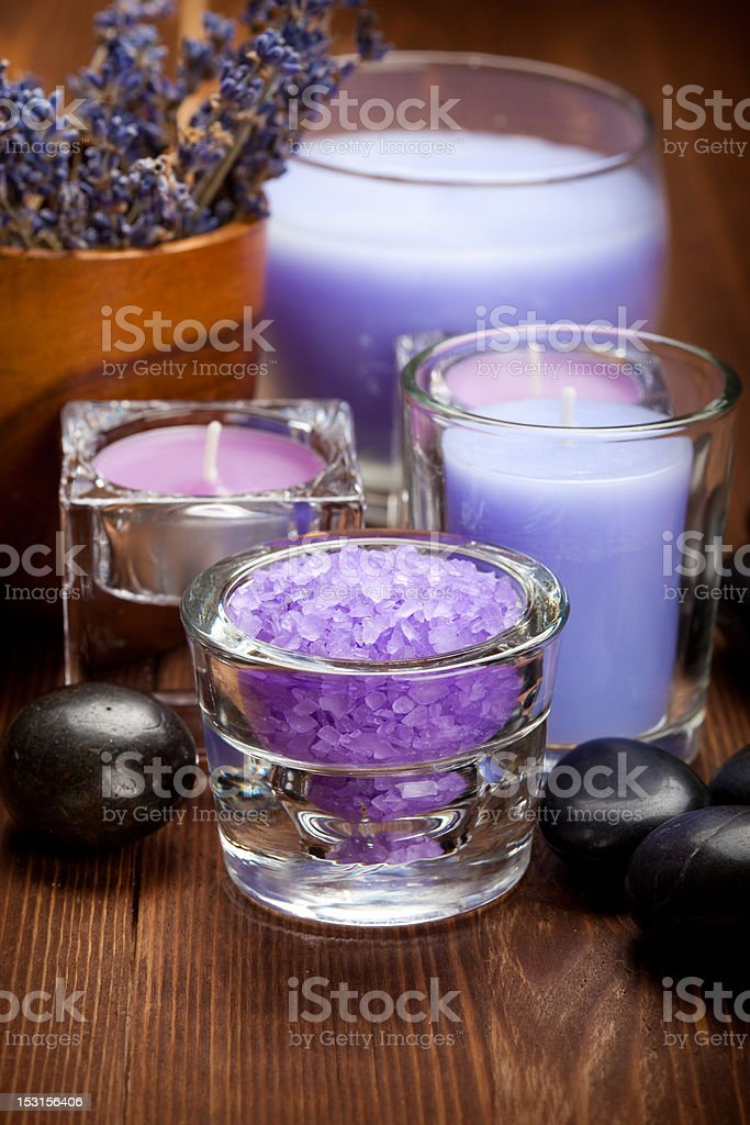 Lavender spa and wellness royalty-free stock photo