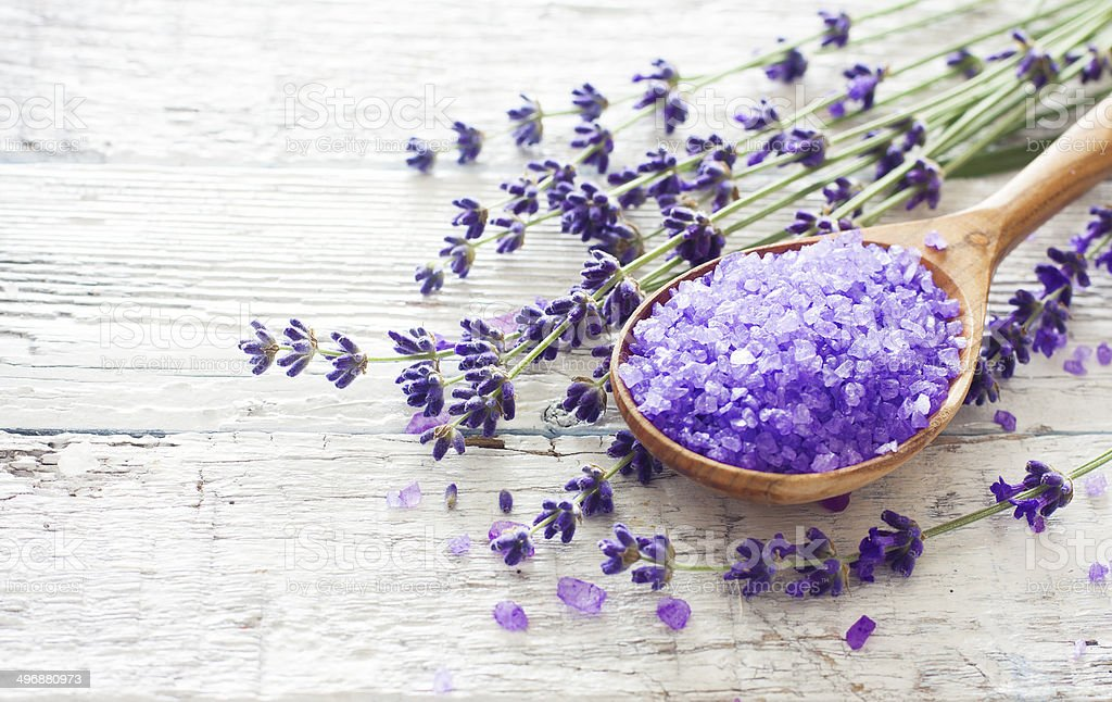 Lavender spa background stock photo