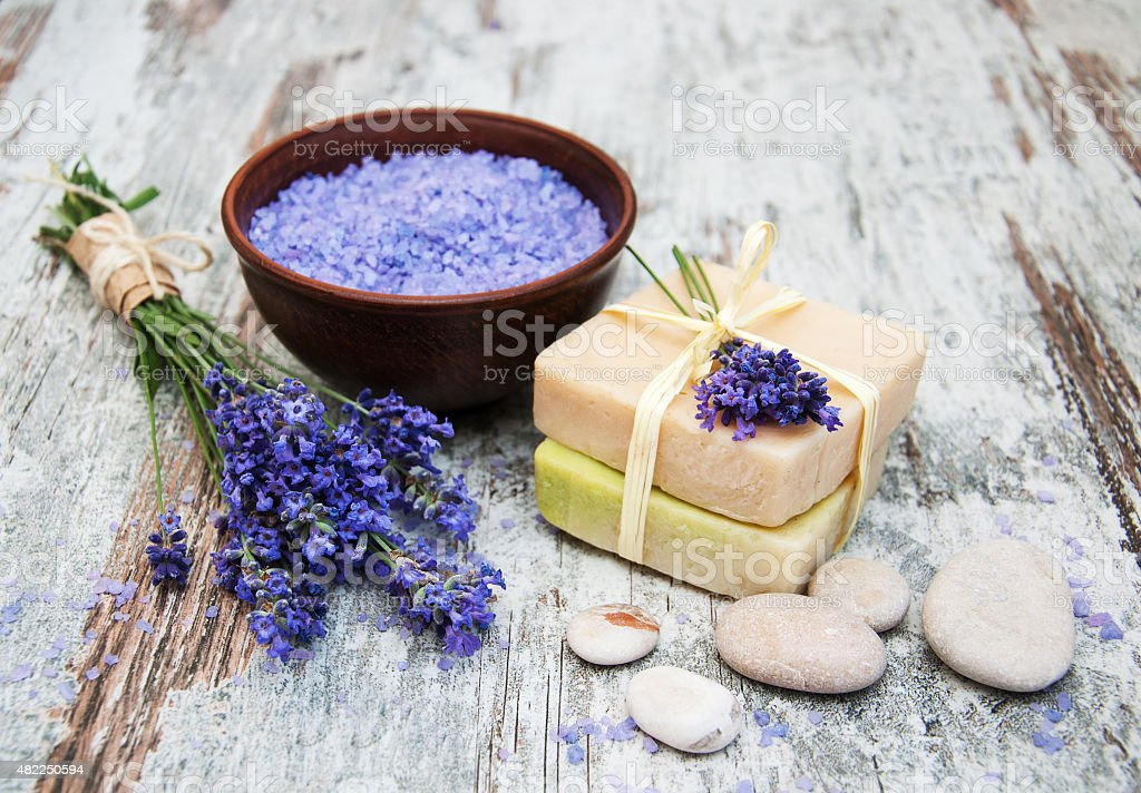 lavender spa stock photo