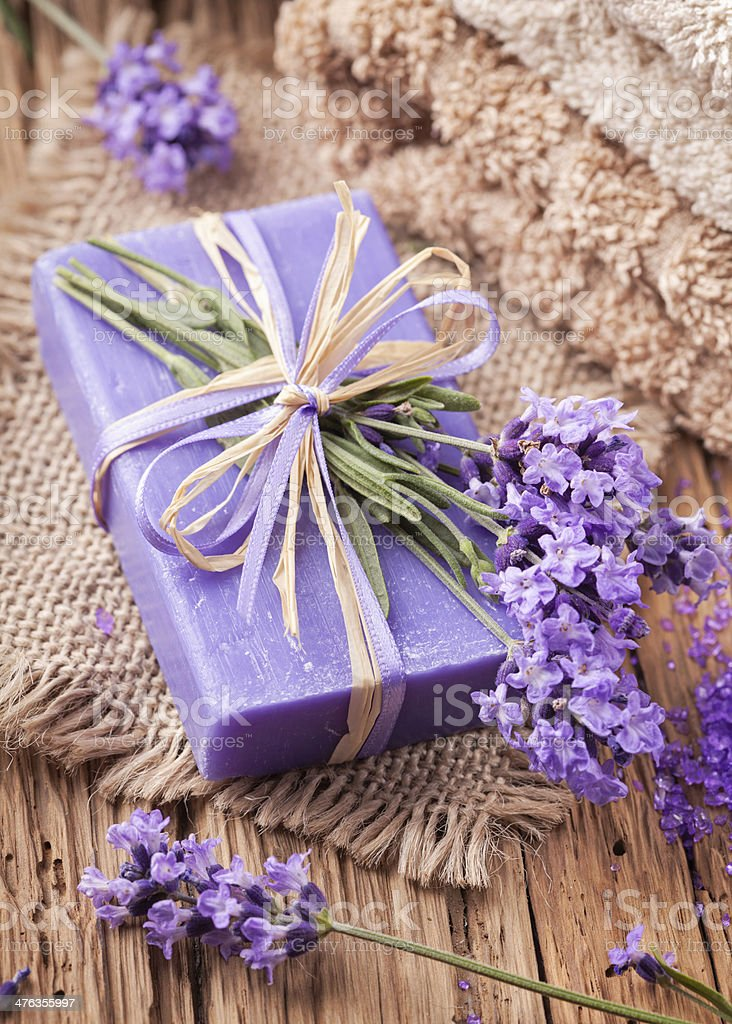 Lavender spa treatment royalty-free stock photo