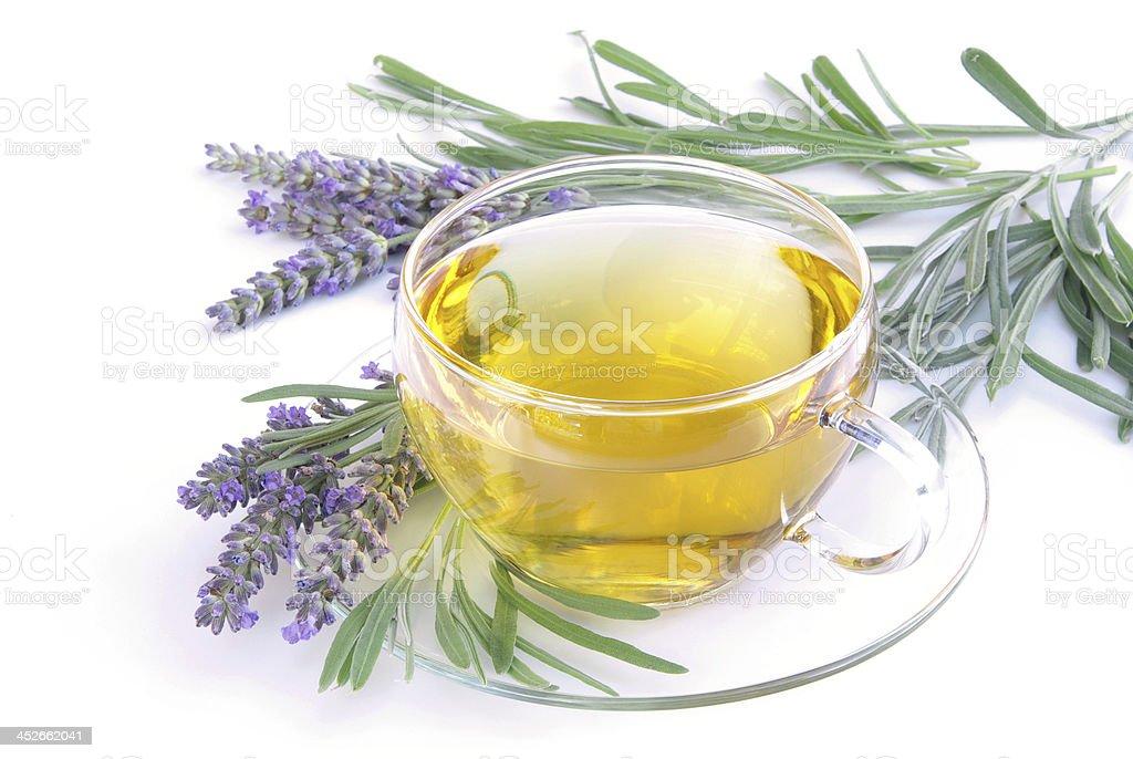 lavender tea stock photo