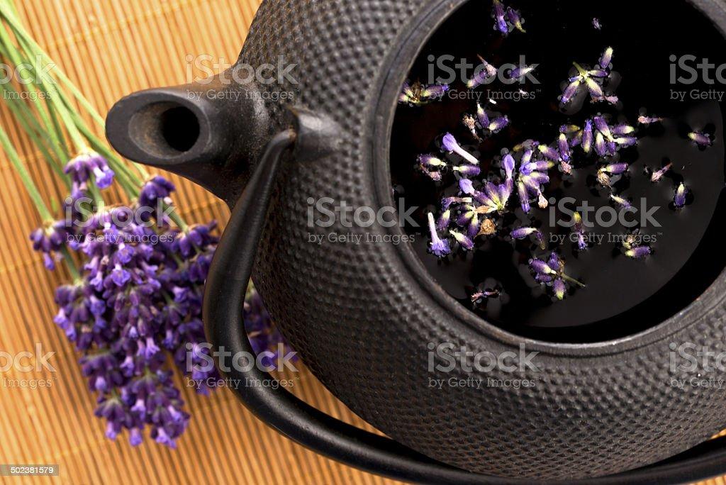 Lavender tea royalty-free stock photo