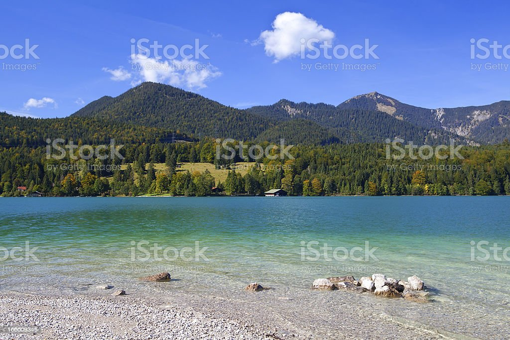 lavender Walchensee in Germany royalty-free stock photo
