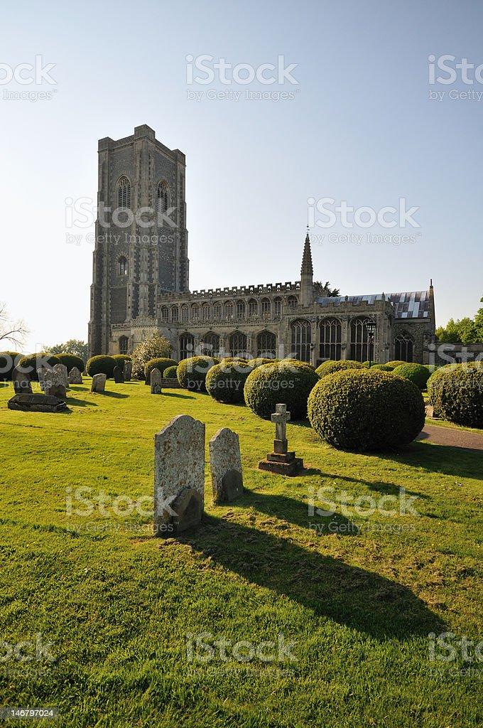 Lavenham iglesia foto de stock libre de derechos