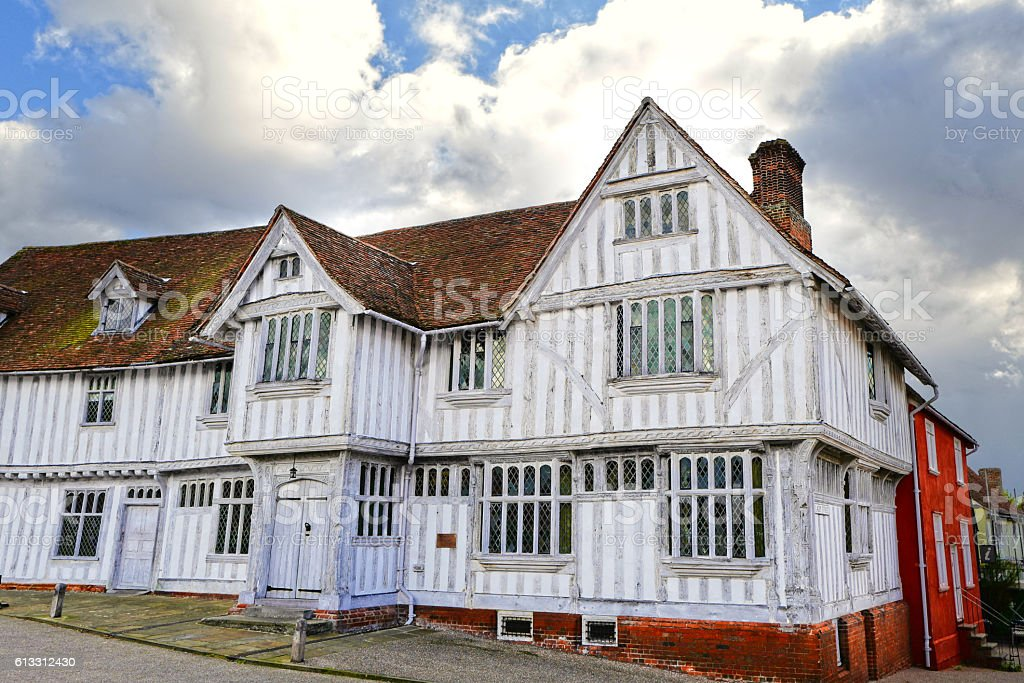 Lavenham Guildhall stock photo