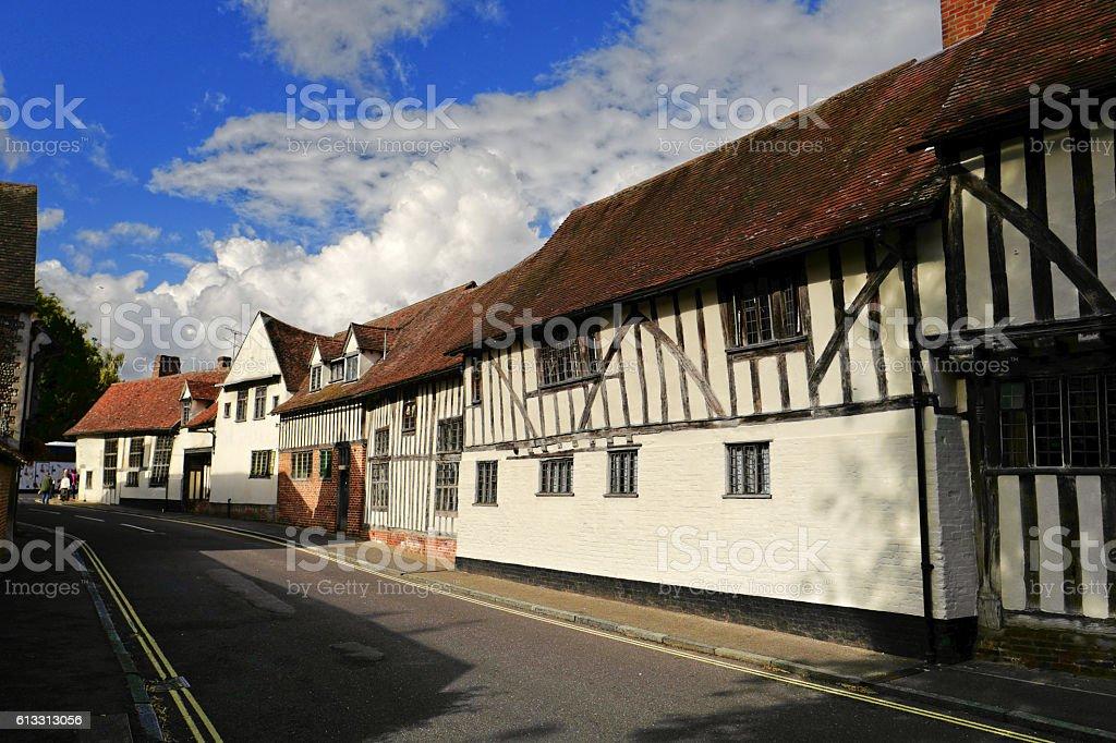 Lavenham Street stock photo