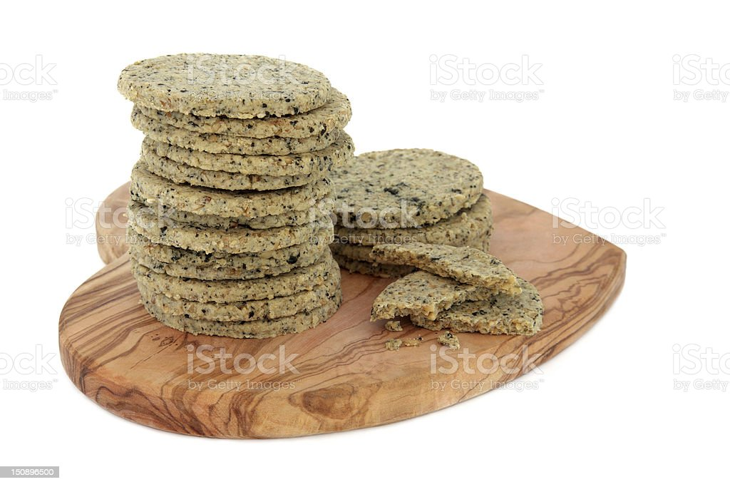 Laverbread Biscuits stock photo