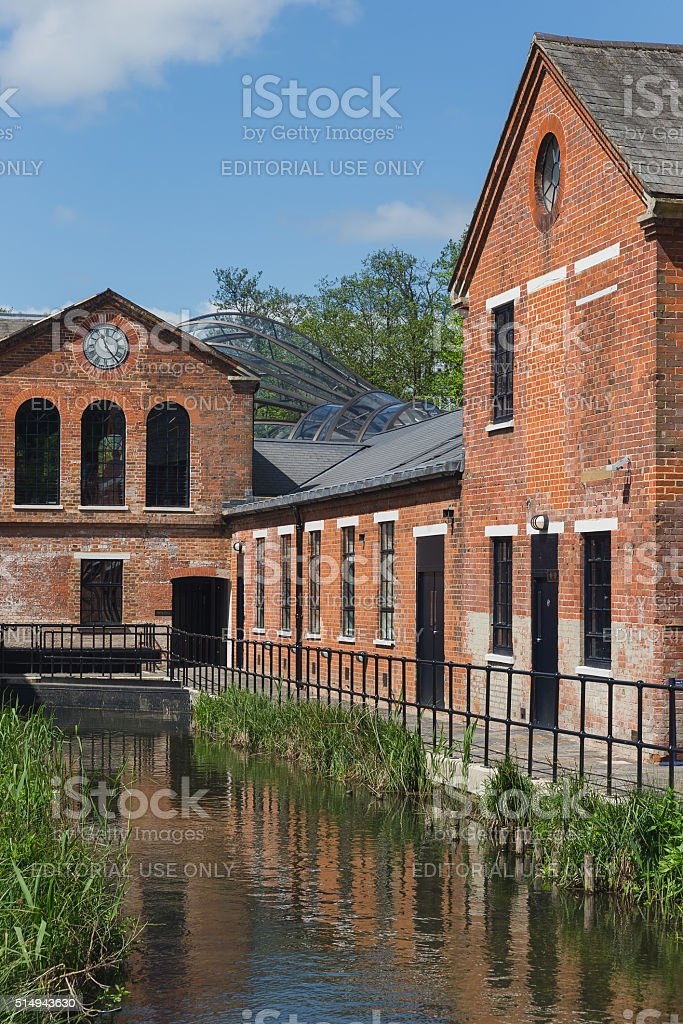 Laverstoke Mill, England - May 2015 stock photo