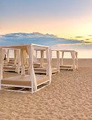Lavish sunbeds on Spanish beach