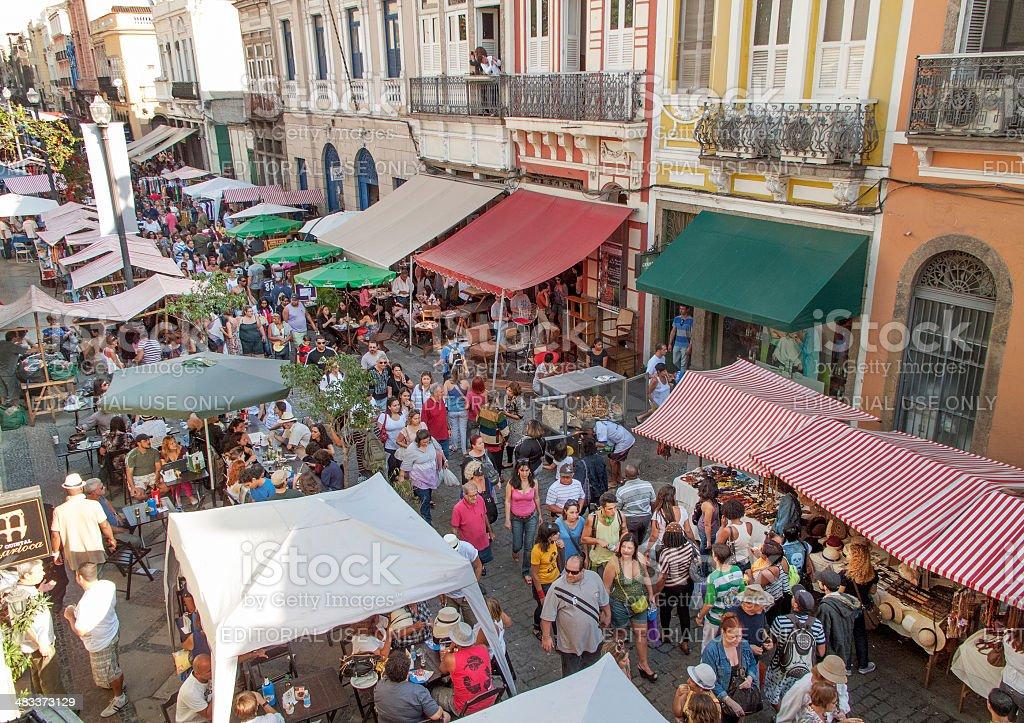 Lavradio Street Antique Fair in Rio stock photo